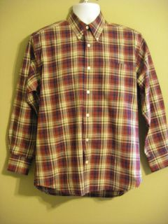 Cotton ALEXANDER JULIAN L/S Button Front Shirt Size M FREE SHIPPING