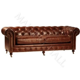 RALPH LAUREN Tufted LEATHER Chesterfield Sofa   BRAND NEW