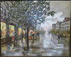 Original Oil Painting Mid Century Cityscape LEE REYNOLDS SIGNED Giant
