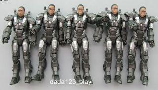 5PCS Iron Man 2 Cancelled unmasked War Machine Prototype Hasbro
