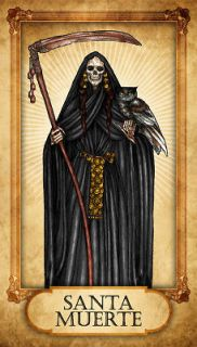 SANTA MUERTE PRAYER CARD Witch Voodoo Vodou Witchcraft Pagan Santeria