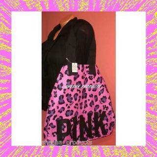Victoria Secret PINK Tote Bag Leopard Print Purple New