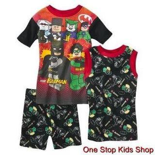LEGO BATMAN Boys 4 6 8 10 Pjs Set PAJAMAS Shirt Tank Shorts Top THE