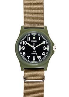 Unissued MWC G10 Limited Edition Olive Drab Military Watch on Khaki