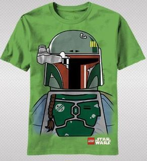 NEW Lego Star Wars Boba Fett Face Body Classic Movie Game Logo Youth T