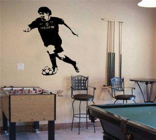 Lionel Messi Barcelona Footballer WALL ART MURAL STICKER TRANSFER