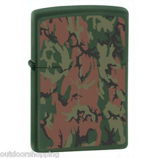Camouflage Matte Authentic ZIPPO   Non Glossy Refillable Fluid Lighter