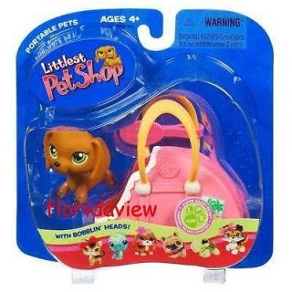 Littlest Pet Shop Dachshund Puppy Dog with Carrier #139 (MIP) NEW Free