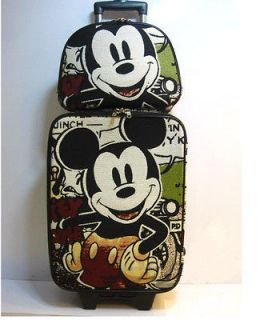 Mickey Mouse Trolley Travel Luggage Bag Roller Baggage 2PC KIT Gift