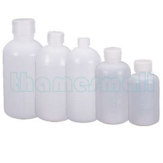 Plastic Bottle Container w/ Ribbed Lid for Shower Shampoo Lotion Gels
