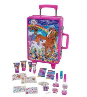 Lisa Frank Rolling Luggage Case Calendar Make up Hair Tattoos Set Nail