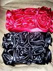 LORI GREINER ROSE FLORAL SMALL HANDBAG MAKEUP OR COSMETIC BAG