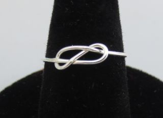 STERLING SILVER WIRE INFINITY LOVE KNOT RING SIZE 6