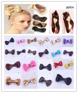 1pc Lady Gaga Bowknot Hair Bow Clip Extensions Tie Party Hairpin