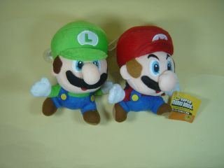 lot 2 pcs set mario bros running mario luigi 6 plush