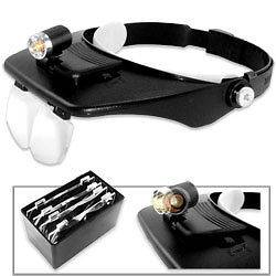 New Magnifier Glasses Magnifying Lens Glass W/ Head Light Jewelry