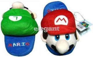 Nintendo Super Mario + Luigi Kids Plush Slipper 1 Pair