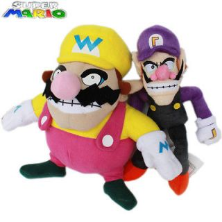 Nintendo Super Mario Brothers 2 Plush Toy Wario WLuigi 25cm Stuffed