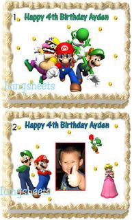 Super Mario Brothers Frosting Edible Image Icing Cake Topper Birthday