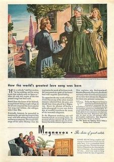 Magnavox & GE Radio Phonograph 2 Vintage Ads Regency Symphony Model