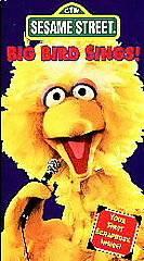 Sesame Street   Big Bird Sings (VHS, 1995)