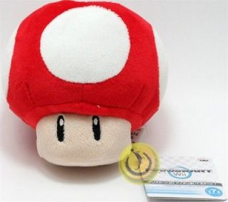 Official Nintendo Mario Kart Vol. 1 Plush Toy   4.5 Red Mushroom