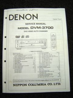 Original Denon DVM 3700 Service Manual