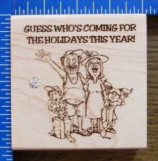 DIAMONDS rubber stamp CHRISTMAS TRASHY FAMILY GUESS WHO? VERY FUNNY