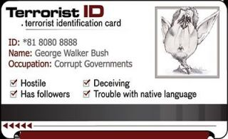 Terrorist ID Card Osama Bin Laden Dead Fake Costume