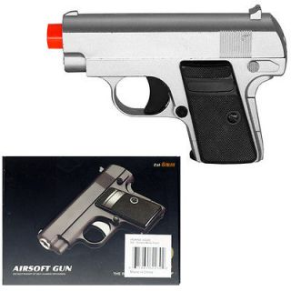 New 5 9mm Spring Silver Metal Airsoft Pistol Gun 205fps w/ 6mm BB Air