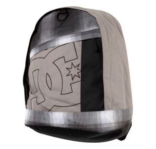 DC Shoes Boys Mens SLIDER Laptop Backpack Black Khaki Plaid School