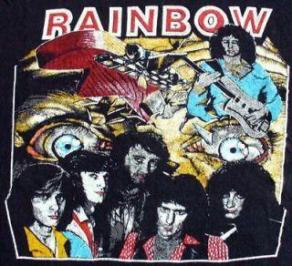 Vintage Concert SHIRT 80s TOUR T RAGLAN JERSEY Deep Purple Blackmore