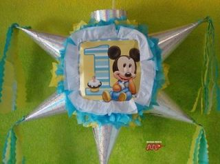 Pinata Baby Mickey Mouse 1 Year Star Shape Festive Holds Candy