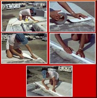 White Eternabond Mobile Home RV Rubber Roof Repair 4 x 8 Free