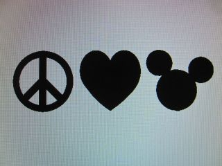 Peace Love Mickey Mouse vinyl decal sticker car window Disney 23