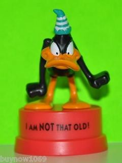 LOONEY TUNES DAFFY DUCK FIGURE 3 TALL CAKE TOPPER 1994 NEW HARD TO