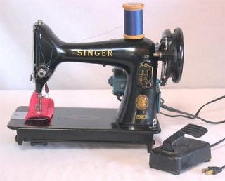 Vintage 1957 Singer Sewing Machine Model 99K Clydebank with Pedal