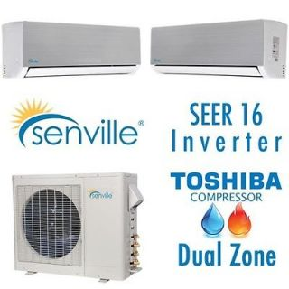 Senville Ductless Mini Heat Pump Split Air Conditioner   16 SEER