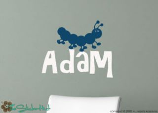 Name Caterpillar Word Art Vinyl Graphic Saying Stickers Decals 816