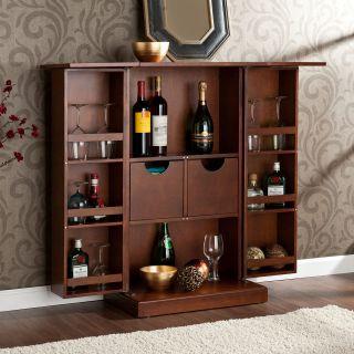 Rich Tuscan Old World Style Wine Liquor Mini Bar Pub Cabinet Fold ...