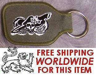 Cloth Military Key Ring Airborne Special Forces We Kill for Peace