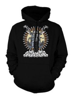Skeleton Death Rider Biker Motorcycle Chopper Skulls Hoodie Sweatshirt