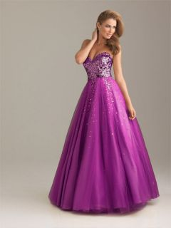 Night Moves 6499 Prom Dress / Pageant Dresses / Gowns / Purple Size 6