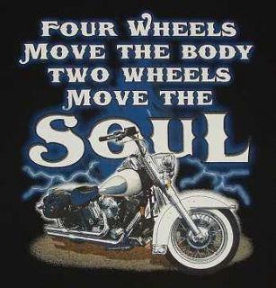 Wheels Move the Soul SS/LS T Shirts Biker Motorcycle