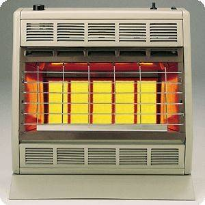 Empire 30K BTU SR30 Vent Free Radiant Natural / LP Gas Heater & Blower