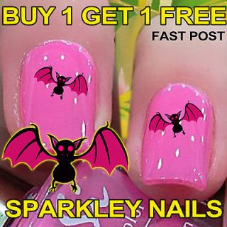 20 Bat 3 Nail Art Stickers Water Decal Transfers Wrap New Nails