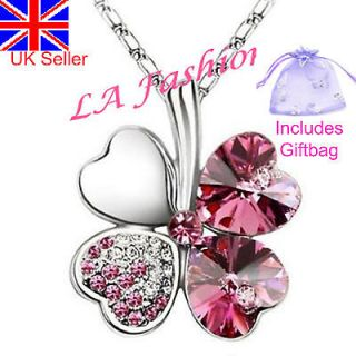 four leaf clover necklace in Necklaces & Pendants