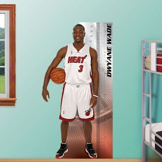 Miami Heat NBA Dwyane Wade Fathead Growth Chart 34W x 65H
