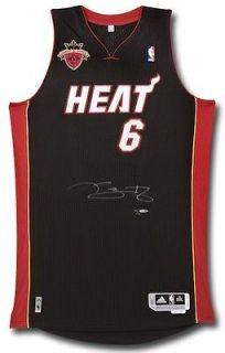 LEBRON JAMES Signed Finals MVP Miami Heat Jersey UDA LE 12