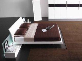 Radiant Modern Platform Bed + 2 Nightstands